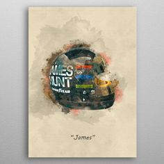 James Hunt's Helmet by Abraham Szomor | metal posters - Displate