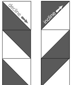 decline and incline for easy herringbone quilt from triangles