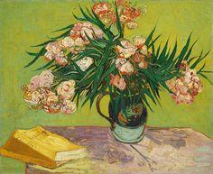 "artimportant: "" Vincent Van Gogh - Oleanders, 1888 Oil on canvas """