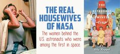 A new book recounts the true tale of the women tending the families and homes as their astronaut husbands rocketed to the moon during the early space program in the 1960s. #history #books #space