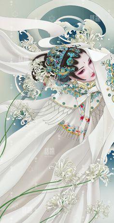 Chinese Drawings, Chinese Artwork, Beautiful Fantasy Art, Beautiful Artwork, Foo Dog Tattoo, Buddha Art, Antique Illustration, Anime Princess, China Art