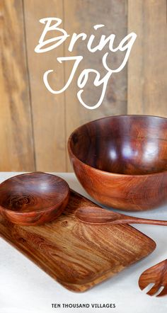 This holiday, choose to Bring Joy.  Ten Thousand Villages brings you fair trade, handcrafted gifts from a wonderful world.  #ShareConnection ~ We partnered with Leakey Collection for premier tabletop items sustainably sourced and made by hand.