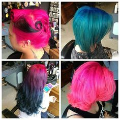 We have a space for some rainbow hair today. If you're free and up for something fun I'll give a cheeky discount for letting us play. #shoreditch #rainbowhair #mermaidhair #rockalily