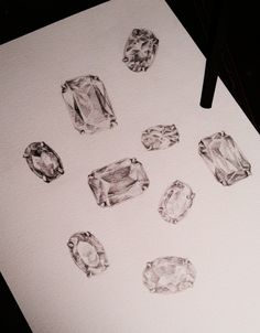 Gems. Pencil on watercolor paper