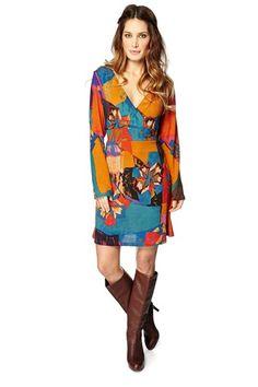 Vente PALME / 21494 / Robes / Manches longues / Robe Orange et bleu