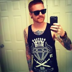 Matty Mullins is my obsession Memphis May Fire Memphis May Fire, Panic! At The Disco, Attractive Men, Sexy Men, Celebs, Guys, Tank Tops, My Style, Bands