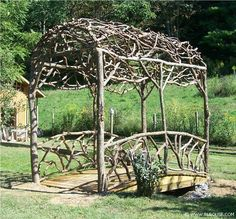 natural branch arbor