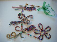 Copper Wire Art Birds & Flower hanging by WildRoseStudioCrafts  lovely gift for someone special