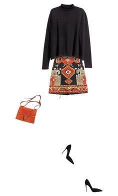 """Orange & Black"" by yasminasdream ❤ liked on Polyvore"