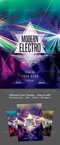 Minimal Electro Flyer Electro, Minimal and Club flyers - electro flyer