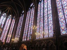 Sainte-Chapelle ... heavenly  I LOVE stained glass!!! Take me here please!