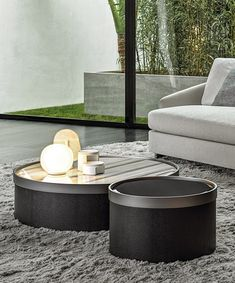 Bailly Coffee Table by Minotti — Table Desk, Table Furniture, Round Wooden Coffee Table, Coffee Tables, Faia, Coffee Table Design, Center Table, Furniture Collection, Living Room