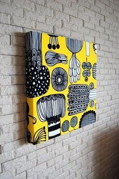ファブリックパネルの作り方☆発泡スチロールの作り方 手順 11 インテリア 日曜大工・DIY ハンドメイド、手作り作品の作り方ならアトリエ Marimekko, Out Of Style, Fabric Panels, Diy And Crafts, Hand Crafts, Coasters, Workshop, Artsy, Textiles
