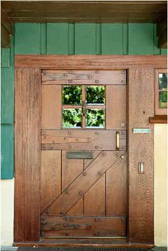 Love this Craftsman front door. Frederick C Grable house in Pasadena