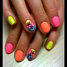 Cool 99 Cute and Colorful Tropical Nails Art Ideas Suitable for Vacations. More at http://aksahinjewelry.com/2017/10/09/99-cute-colorful-tropical-nails-art-ideas-suitable-vacations/ #summernails