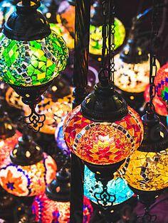 decorative arabian lanterns by Juri Pozzi - Stocksy United Traditional Lamps, Moroccan Lamp, Lanterns, Christmas Bulbs, The Unit, Ceramics, Stock Photos, Lights, Holiday Decor