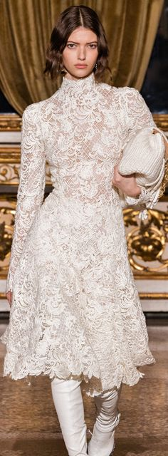 Shades Of Beige, Ermanno Scervino, Runway, Dresses With Sleeves, Couture, Lace, Long Sleeve, Outfits, Clothes