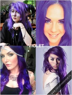 Coloring hair balsam - Violet purple #haircolor #brighthair #directions #lariche #gothichair #hairfashion #hairspiration #gothichairstyle #coloredhair #hairdye #hairdye #brighthair #girlwithdyedhair   Fantasmagoria.eu - Gothic Fashion boutique Gothic Hairstyles, Permed Hairstyles, Semi Permanent Hair Dye, Bleaching Your Hair, Synthetic Hair Extensions, Bright Hair, Bleached Hair, Gothic Fashion