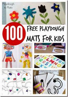 100 FREE playdough mats #preschool #playdough #kindergarten