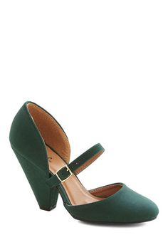 Perfect shoes! $44.99  Everlasting Evergreen Heel - Green, Solid, Good, High, Party, Cocktail, Bridesmaid