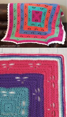 [Free Crochet Pattern] This Gorgeous Throw Pattern Features Dragonflies Radiating Out From The Center Of The Blanket