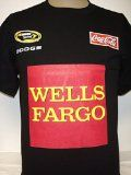 "New! Black NASCAR Kyle Petty Wells Fargo Coca-Cola Sprint Cup Series Graphic Tshirt Medium   100% Pre-shrunk Cotton Made By Chase Authentics Size Medium Brand New!  Black graphic t-shirt with Large Wells Fargo Logo and smaller ""NASCAR Sprint Cup Series"", ""Coca-Cola"",..."
