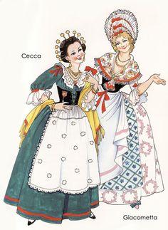 Cecca e Giacometta; illustrazione di Carla Ruffinelli