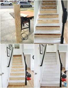 Awesome Painted Staircase Makeover With Seagrass Runner