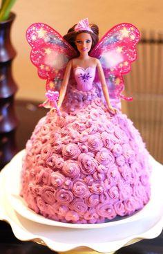 Fairy Birthday Cake, Barbie Birthday Cake, Twin Birthday Cakes, Barbie Fairy Cake, Barbie Theme, Barbie Cake Designs, Cupcake Cake Designs, Bolo Barbie, Barbie Doll