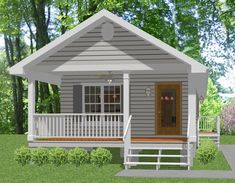 Complete House Plans---648 S/f Mother-in-law Cottage