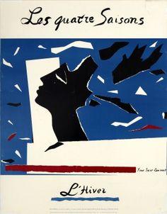 Yves Saint Laurent Four Seasons Winter, 1983 - original vintage poster by Yves Saint Laurent listed on AntikBar.co.uk #LFW #Fashion #Art #YvesSaintLaurent