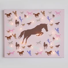 Horse Illuminated Canvas | Girls Bedroom or Nursery Picture - From £47.95