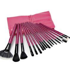 $25.99 USDRose Red Professional Makeup Brushes Tool 18pcs Set