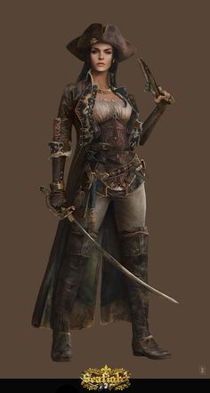 Steampunk, fantasy, pirate character inspiration  ArtStation - Wild Sea Pirate II, Eve Ventrue