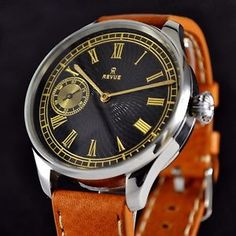 mens watches vintage international watch co schaffhausen iwc extra solid 1930 year unique mens watch revue style web black movement swiss