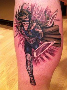 Gambit X-Men tattoo  (by Matt Lukesh)