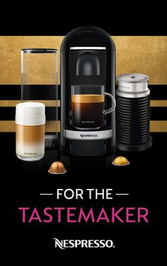 We all know someone who prides themselves on being ahead of the curve. Gift them the Nespresso VertuoPlus, a coffee machine that's as trendy and cutting-edge as they are.  -One touch operation  -Available in a variety of stylish colors to complement any home or office  -Heats up within seconds