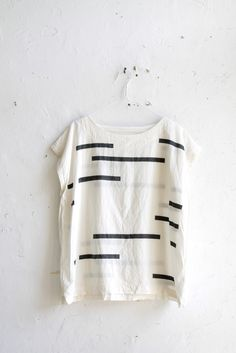 // Uzi Tunic Broken Stripe