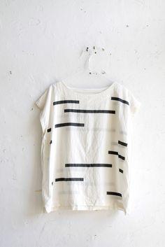 // Uzi Tunic Broken Stripe