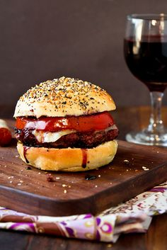 Cabernet Burgers (or Shiraz. or merlot ...)with Everything Buns I CANNOT WAIT TO TRY THESE !!!!!! The burgers and the buns !!!!