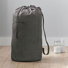 Equal parts fashionable and functional, this extra-large laundry pack has got your back. You'll love how much laundry it can fit, the zippered pocket for detergent and easy draw-string opening. When you're toting your laundry across campus or even down the hall, a laundry backpack comes in extra handy thanks to its soft shoulder straps. Pottery Barn Teen Recycled XL Essential Laundry Backpack Over The Door Organizer, Dorm Room Storage, Led Shop Lights, Back To School Essentials, Pb Teen, College Bags, Summer Lookbook, Pottery Barn Teen, Cotton Bedding