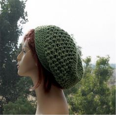 Check out this item in my Etsy shop https://www.etsy.com/listing/288141635/slouchy-summer-hat-womens-cotton-beanie