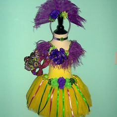 Girl's MARDI GRAS Costume  size 8 to 10  Includes by FairyNanaLand, $87.75