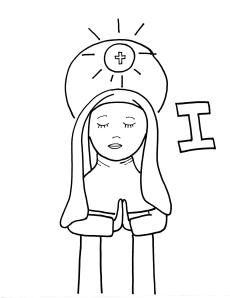 Saint coloring pages for every letter of the alphabet. Cute!