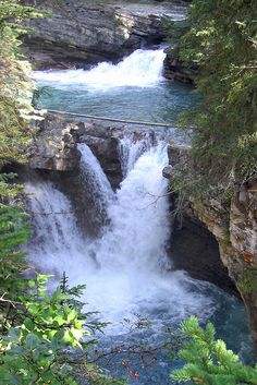 Johnston Canyon Falls - Banff National Park - Canada , Love going to this Falls So Beautiful to visit Banff National Park Canada, National Parks, Beautiful Waterfalls, Beautiful Landscapes, Places To Travel, Places To See, Beautiful World, Beautiful Places, Johnston Canyon