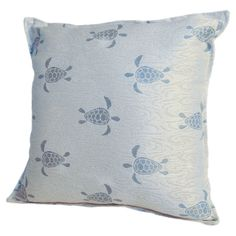 Small Sea Turtle Pillow in Surf Blue