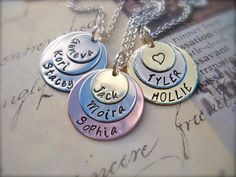 Lisa, Jimmy, Brook on my charm necklace! Christmas Gifts For Her, Holiday Gifts, Perfect Gift For Her, Love Necklace, Mothers Love, Jewelry Crafts, Gift Guide, Great Gifts, Jewelry Making