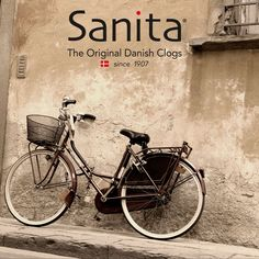 Didya know when our founder Christian Andersen visited local stores, he rode his bicycle carrying his handcrafted clogs?!  Sanita.....still handcrafted, still the original!  |   #MySanita #TBT #handcrafted #original #comfort #fashion #clogs