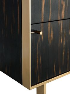 Ingemar Cabinet or Dining Hutch or High Boy in African Ebony and Bronze