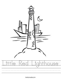 Little Red Lighthouse Worksheet from TwistyNoodle.com